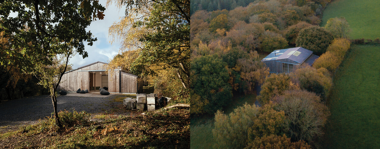Thomas Randall-Page's adaptive reuse project Art Barn reveals itself in Devon, UK