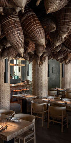 YOD Design Lab's gastronomy of spicy interiors for an Asian restaurant