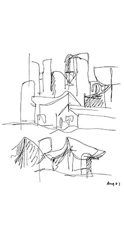Pages from the Sketchbook – BV Doshi