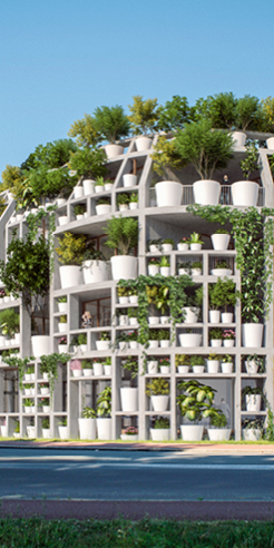 The Green Villa by MVRDV, in Netherlands, is a plant filled project