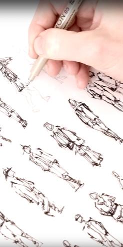 Sketching people – a drawing tutorial by Dan Hogman