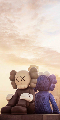 American artist KAWS's huge Mickey-shaped sculpture takes over Taipei