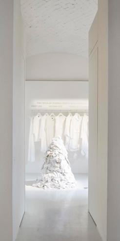 Eileen Fisher says <em>Waste No More, </em>through an exhibition  at Rosanna Orlandi