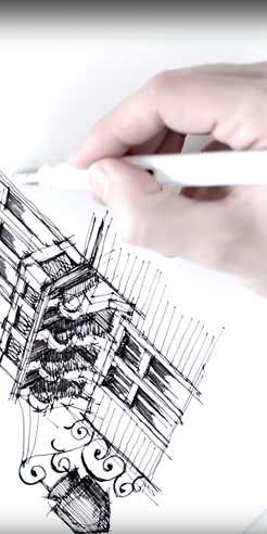 Sketching a slice of Transylvania – a drawing tutorial by Dan Hogman