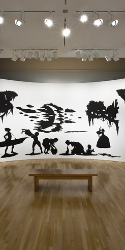 Artist Kara Walker's shadow-play tells tales at the Tate Modern, London