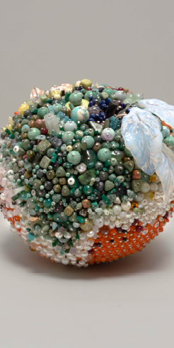 Kathleen Ryan draws inspiration from moldy fruits to create giant gemstone sculptures