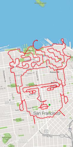 Lenny Maughan marathons his way through San Francisco to create art