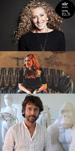 Miss You, Milan: Kelly Hoppen, Nika Zupanc, Marcantonio Malerba in reflection