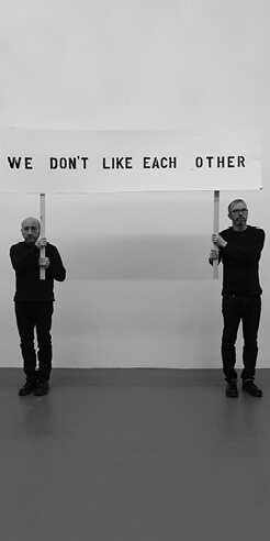 Paul Harrison and John Wood talk about their practice that keeps humour at its core