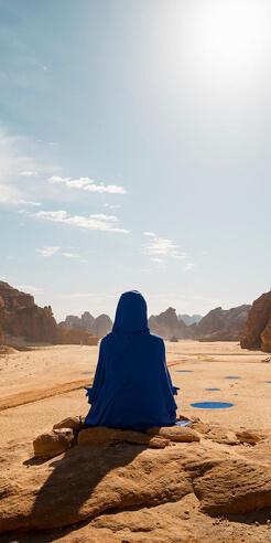 American artist Lita Albuquerque creates fictional female astronaut for Desert X AlUla