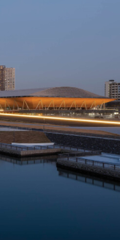 Ariake Gymnastics Centre in Tokyo boasts of the world's largest spanning timber roof