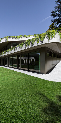 Atelier Alice Trepp by Mino Caggiula in Switzerland mimics the contours of the site