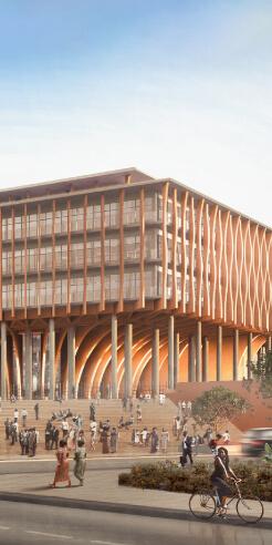 Kéré Architecture-designed Benin National Assembly mimics the African palaver tree