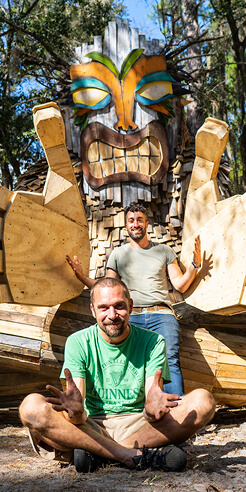 Danish artist Thomas Dambo creates giant trolls out of trash