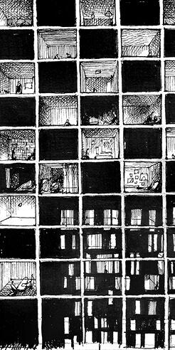Architect David Bülow sketches quarantine moments on the 'edge of architecture'