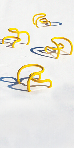 Loopy Chair by Nikolas Bentel is an avant-garde design evocative of a bike rack