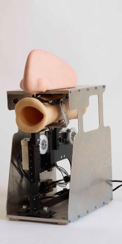 AI robot speaks to God in Diemut Strebe's installation at The Centre Pompidou, Paris
