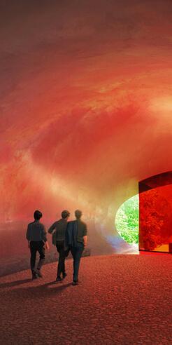 Herzog & de Meuron envisions a motorway chapel in Switzerland in form of a human ear