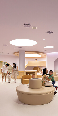 Integrated Field places a yellow slide inside EKH Children's Hospital, Thailand