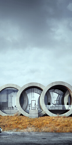Karina Wiciak of Wamhouse studio imagines iconic brand logos as houses