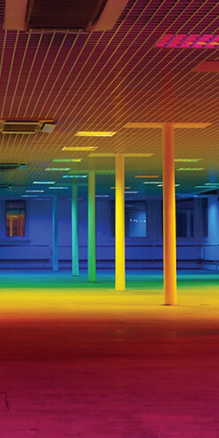 Liz West's sculptures explore the relation between colour and human psychology
