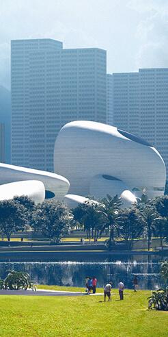 MAD Architects unveil scheme for Shenzhen Bay Culture Park