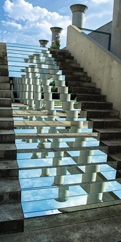 Mirrors in the art of Shirin Abedinirad and Ratna Khanna reflect an unseen landscape