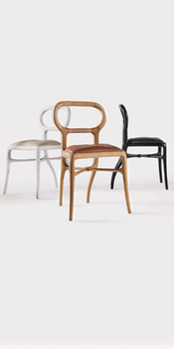 Nigel Coates&rsquo; <em>Capriol</em> dining chair is charged with the animalistic energy of a roe deer