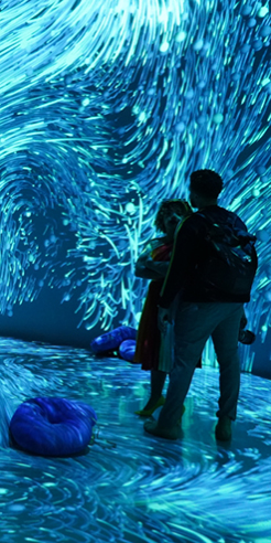 Multi-sensorial experience at ARTECHOUSE brings alive Pantone Color of the Year 2020