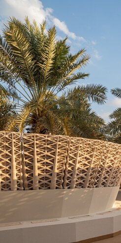 Mamou-Mani and Precht design largest 3D printed sand pavilion in Saudi Arabia