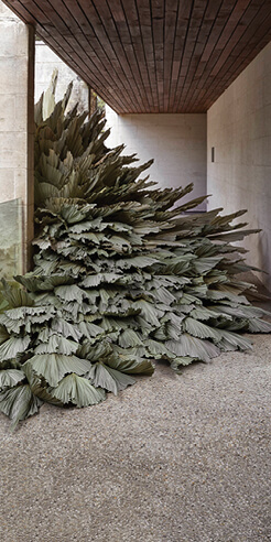 Sculptural art by Loose Leaf underlines the importance of permaculture practices