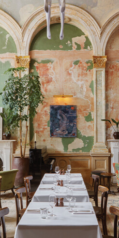 Sessions Arts Club: a new restaurant in a restored 18<sup>th</sup> century Grade II listed building