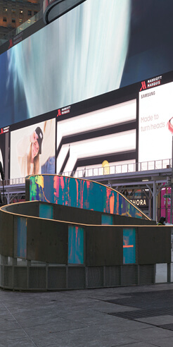 Soft-Firm celebrates the spirit of love with 'Love Letters' at Times Square, New York