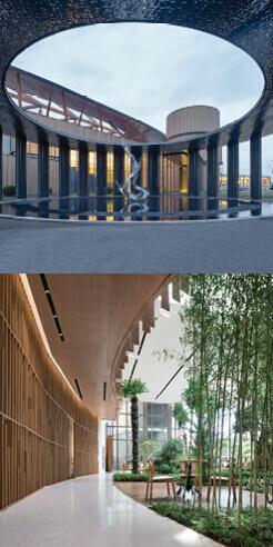 Sunson Design creates an urban forest garden within Nanbo Bay Reception Centre