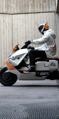 BMW Motorrad Definition CE 04 redefines the scooter segment through design