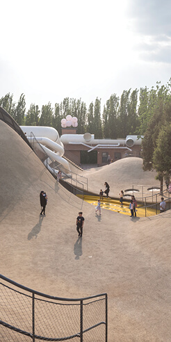 The Playscape by waa in Beijing renovates a warehouse complex to promote street play