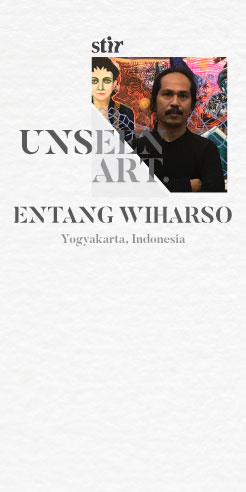 Unseen Art: Entang Wiharso plays with a new material in an unrevealed work - glitter