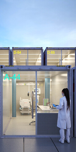 Ready to sail to emergency: Container ship hospitals by Weston Williamson + Partners