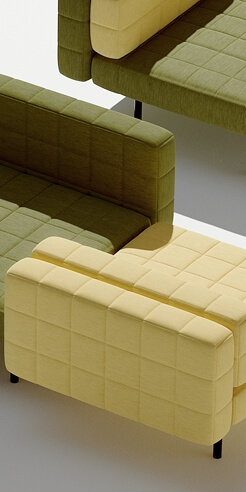 Bjarke Ingels and Common Seating design the Voxel Sofa, inspired by game Minecraft