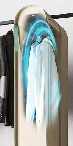 Carlo Ratti's portable wardrobe purifier Pura-Case uses ozone to sanitise clothes
