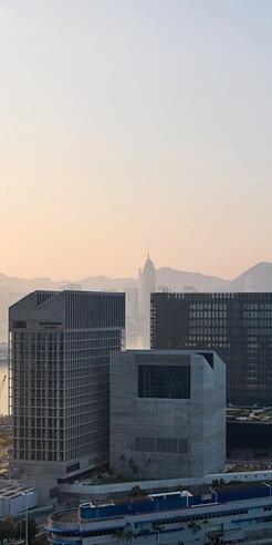Designed by Herzog & de Meuron, work completed on M+ museum in Hong Kong