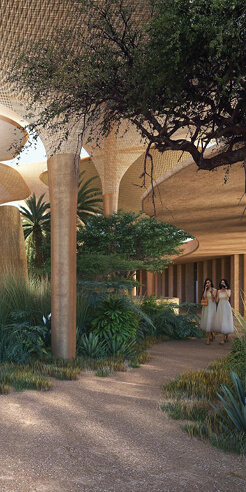 Foster + Partners reveal Southern Dunes hotel in the desert of Saudi Arabia