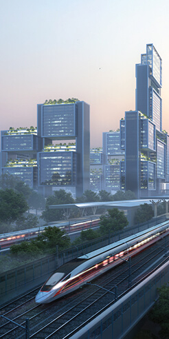 Foster + Partners to design a new Transport Oriented Development in China