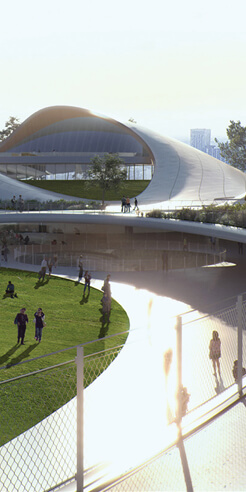 """Jiaxing Civic Centre by MAD is a """"garden-like living room"""" that embraces the city"""