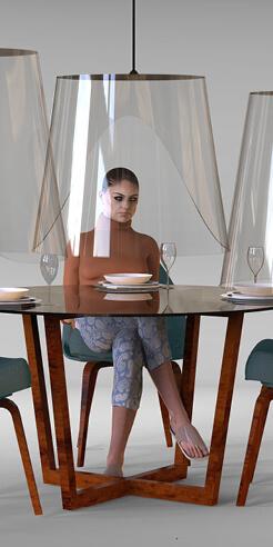 Plex'eat by Christophe Gernigon imagines safe dining for the post-lockdown world