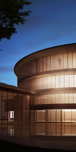 The design of HE Art Museum in China, by Tadao Ando, takes harmony as theme