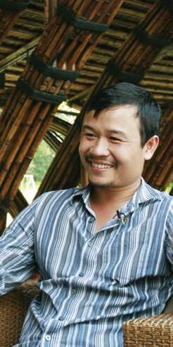 Architect Vo Trong Nghia says he loves the idea of living under a tree