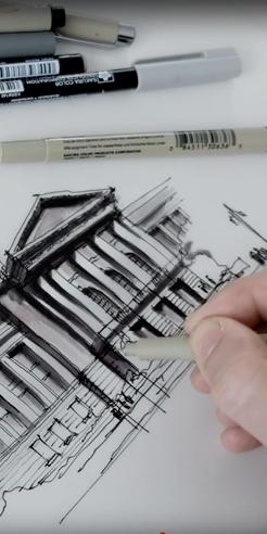 Sketching the San Francisco City Hall – a drawing tutorial by Dan Hogman