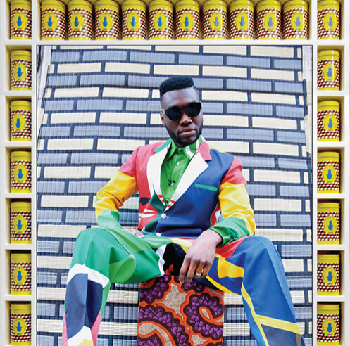 'My Rockstars' series by Hassan Hajjaj refers to hip hop culture and identity