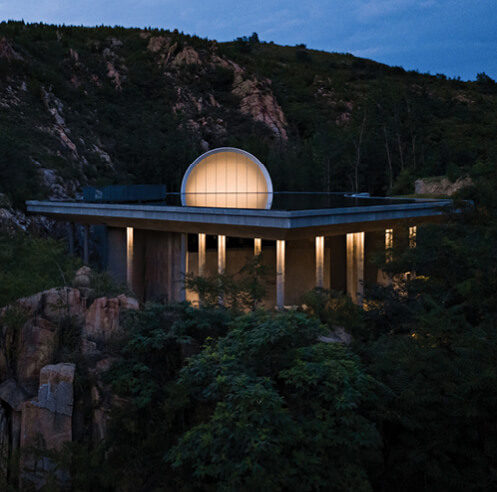 A moon that never sets: Tai'an's Ceremony Hall, the Hometown Moon by Syn Architects